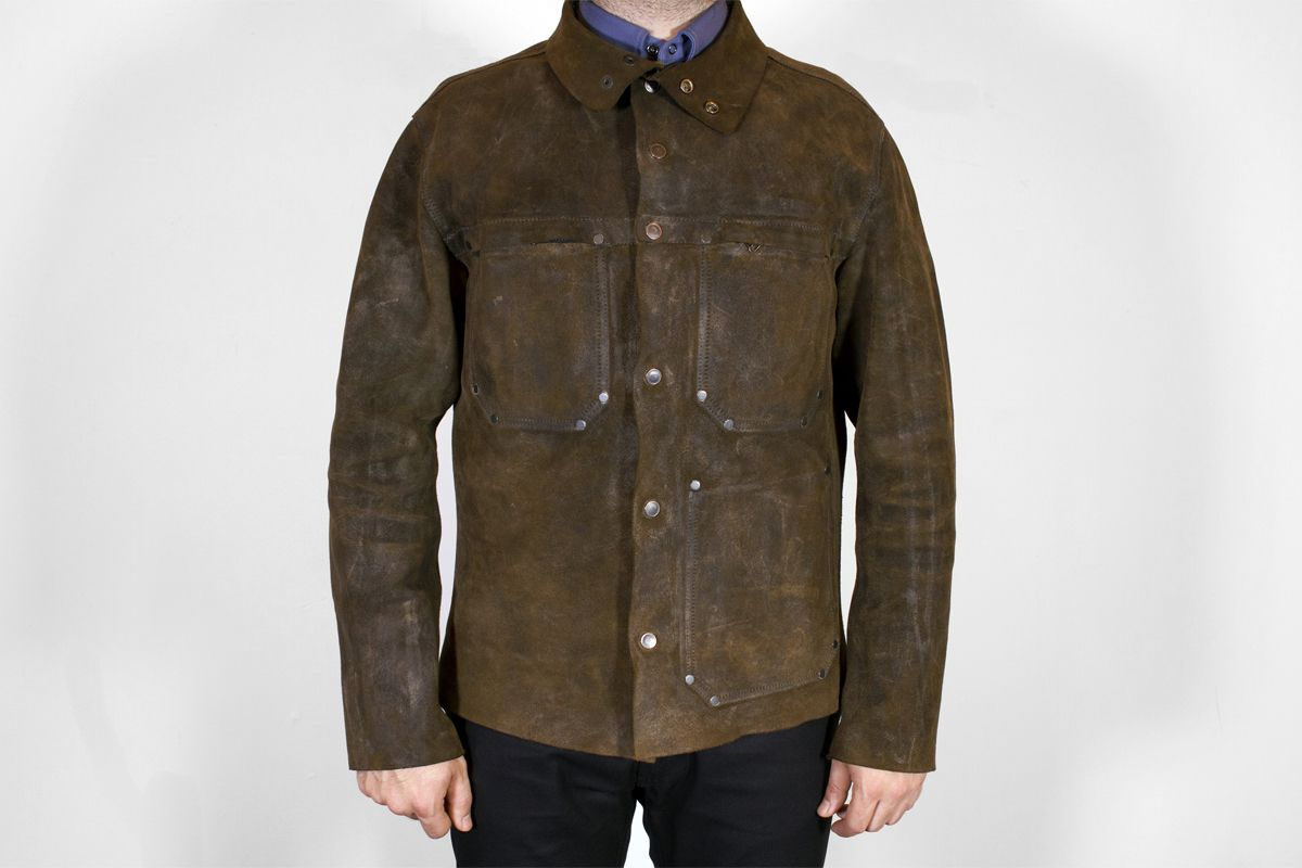 4c053de2a627 Waxed welders jacket. Otter wax is both effective at weather proofing and  texturizing.
