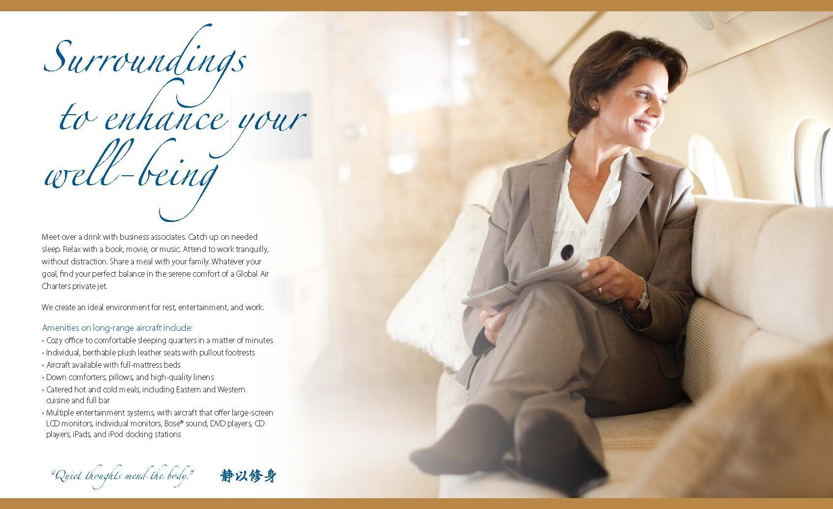Private Jet service worldwide with Global Air Charters, Inc.
