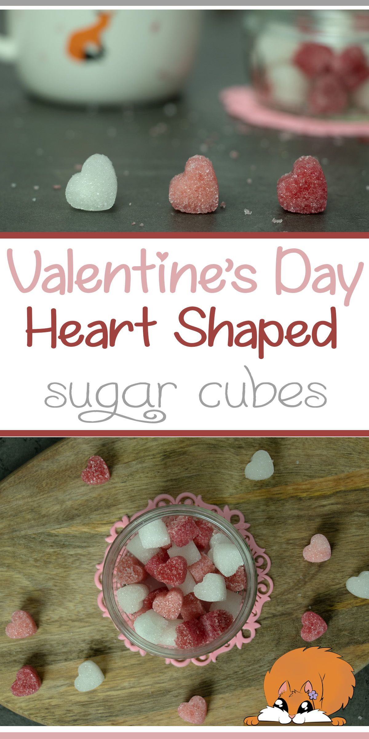 Heart Shaped Sugar Cubes 🧡☕   Valentine's Day Drinks   Mugology ...