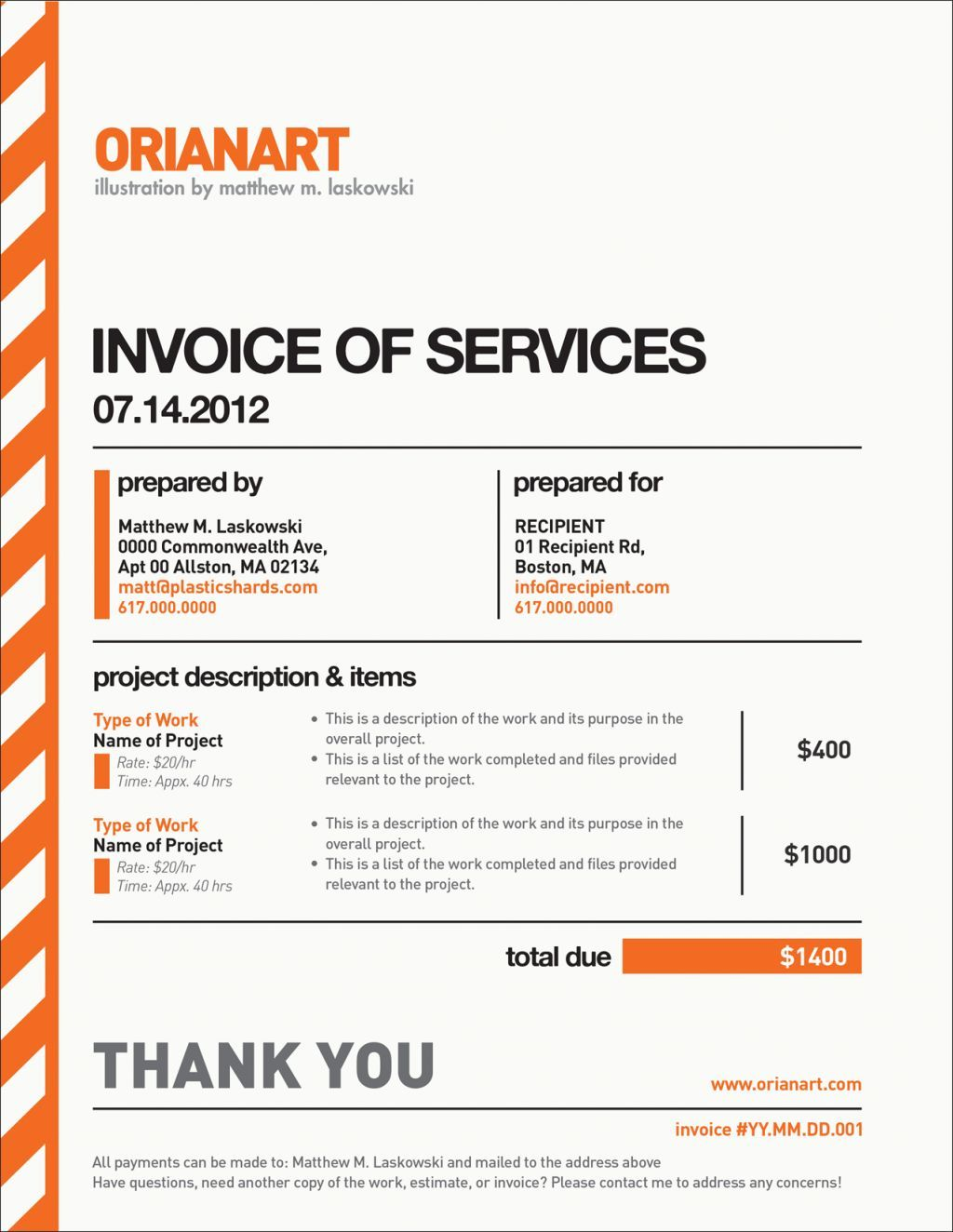 How To Invoice For Freelance Work Photographyinvoicetemplate 1024×1324  Designbee  Design .