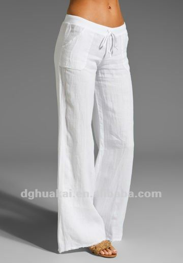 Pantalón de manta blanco. Pantalón de manta blanco. Pantalones Holgados ... 1353cbf965c5