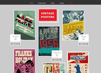 Wix Vintage Poster Shop Website Template Website Template Free Website Templates Wix Website Templates