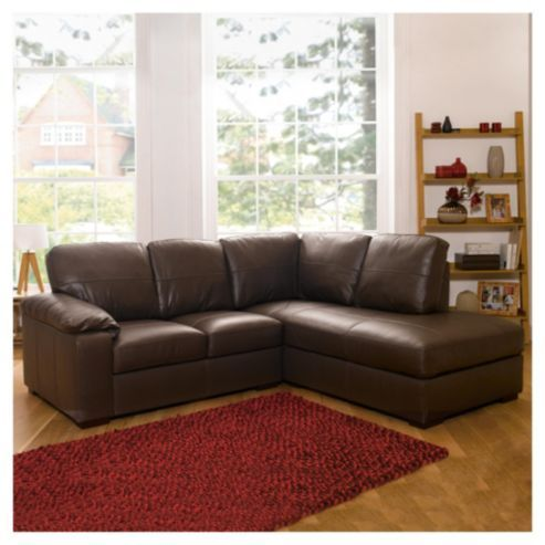 Ashmore Leather Corner Sofa Brown Right Hand Facing From Our Sofas Range