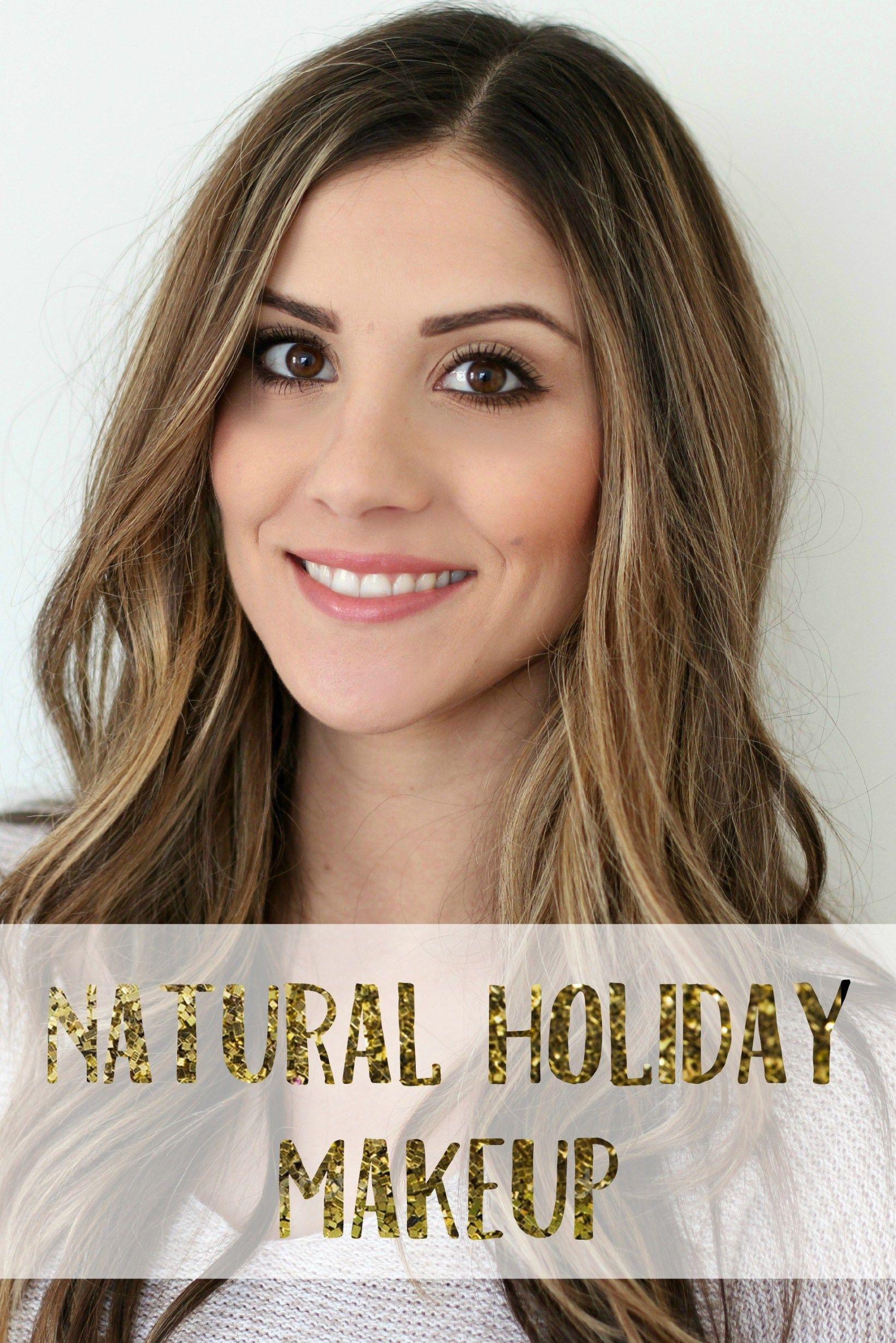 New Year's Eve Natural Holiday Makeup Holiday makeup