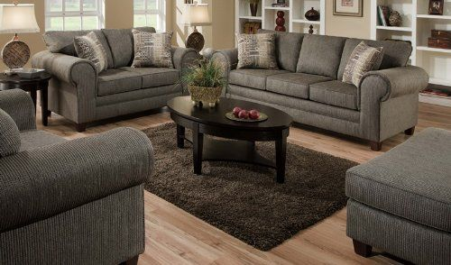 American Furniture Manufacturing 3750 Romance Graphite Living Room