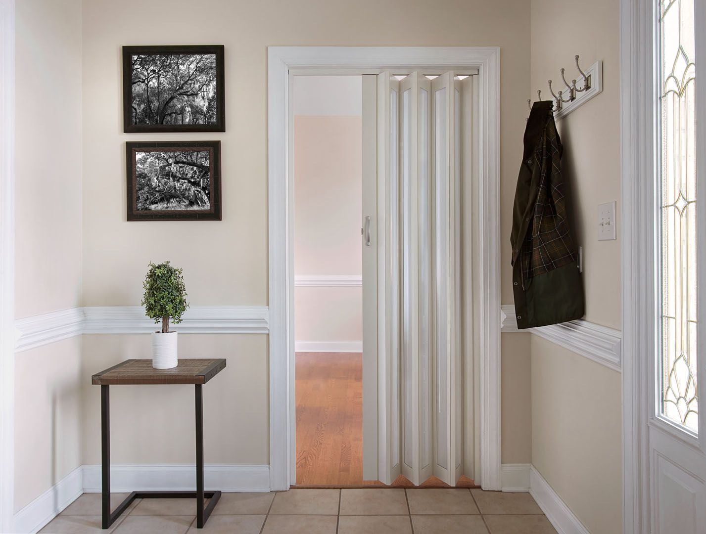 Accordion Doors Com Is The 1 Internet Supplier Of Panelfold Accordion Doors And Dividers Custom Made To Your Sp Accordion Doors Closet Doors Closet Bedroom