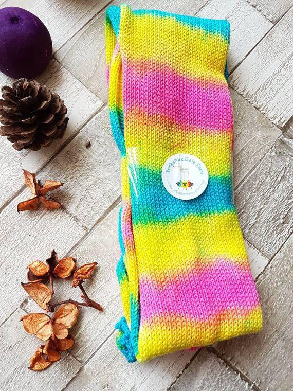 sock blank hand dyed sock blank marbled sock yarn bright