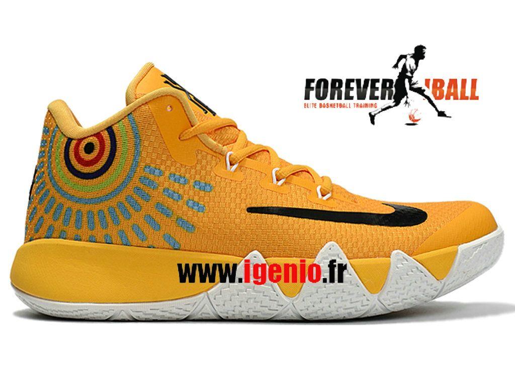 Jaune Kyrie Noir Cher Homme Nike 4 Chaussures Basketball De Pas QrCxBeodW