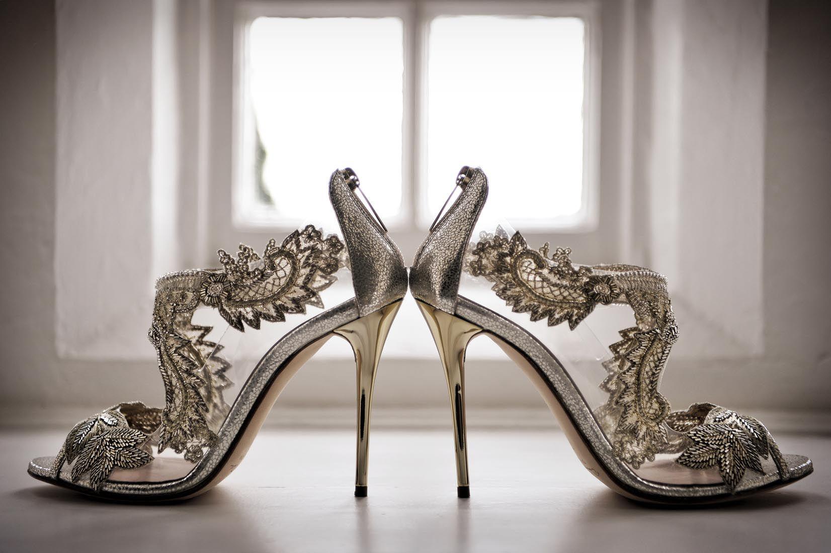 Wedding shoe bride heels sparkly