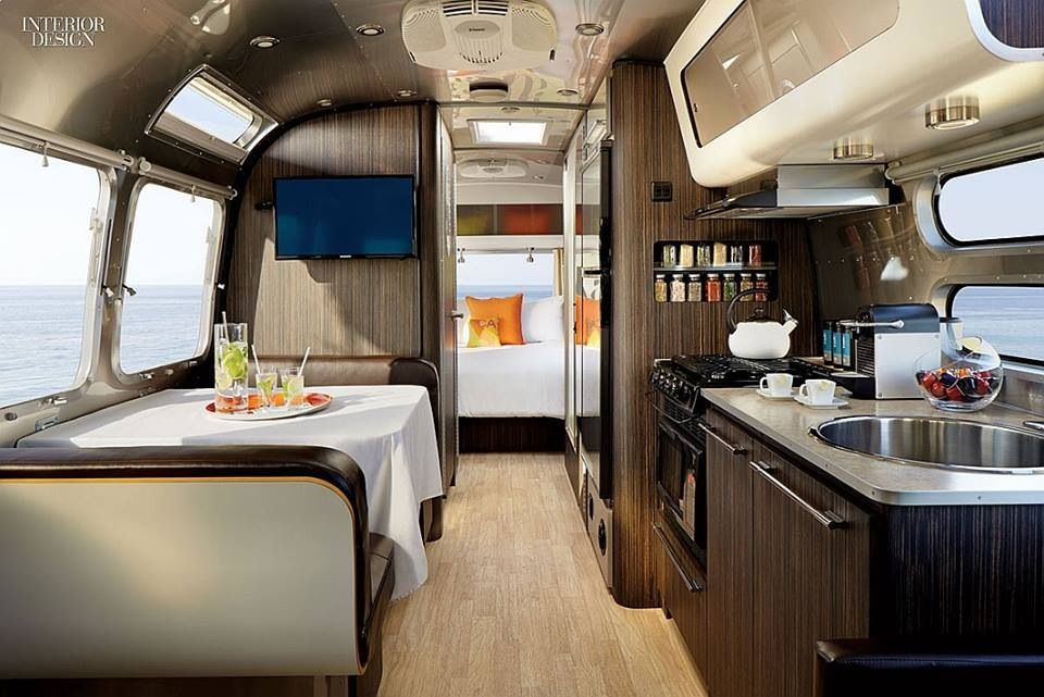Stylish Camper Van Interior View