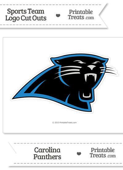 photo regarding Carolina Panthers Printable Logo identified as Massive Carolina Panthers Symbol Reduce Out against PrintableTreats