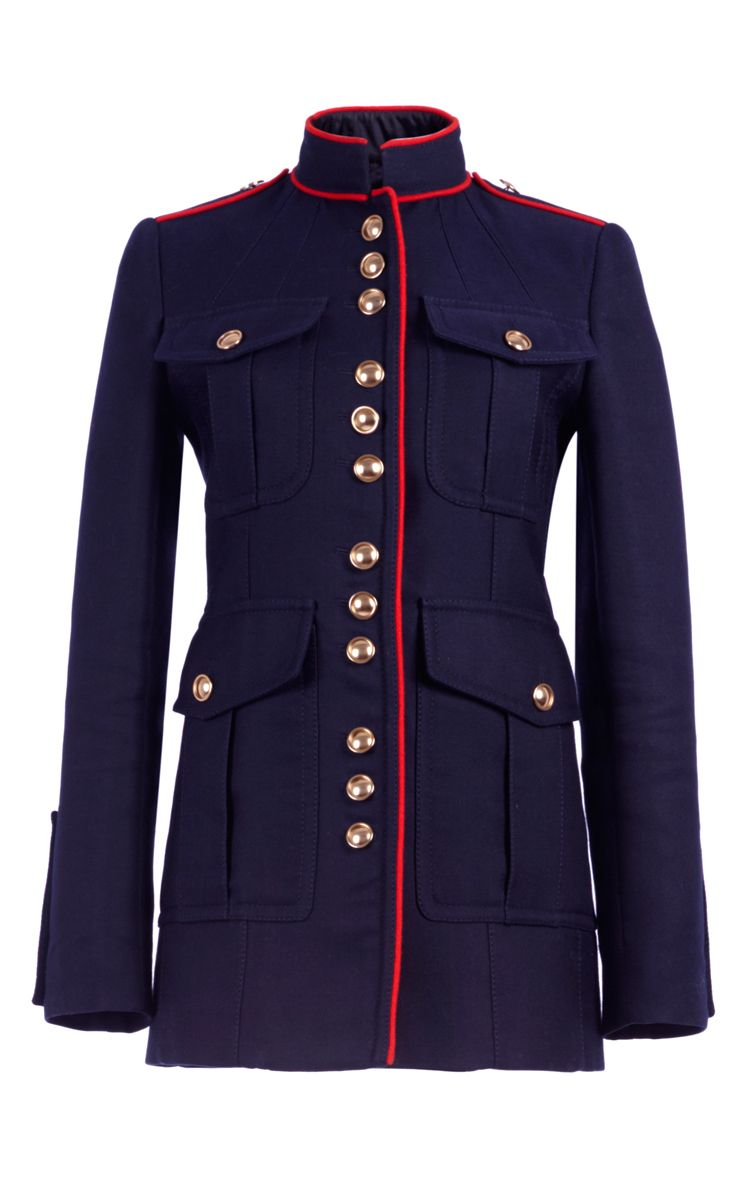 Regimental Jacket With Military Piping Moda Operandi Military Inspired Jacket Military Suit Navy Military Jacket [ 1200 x 750 Pixel ]