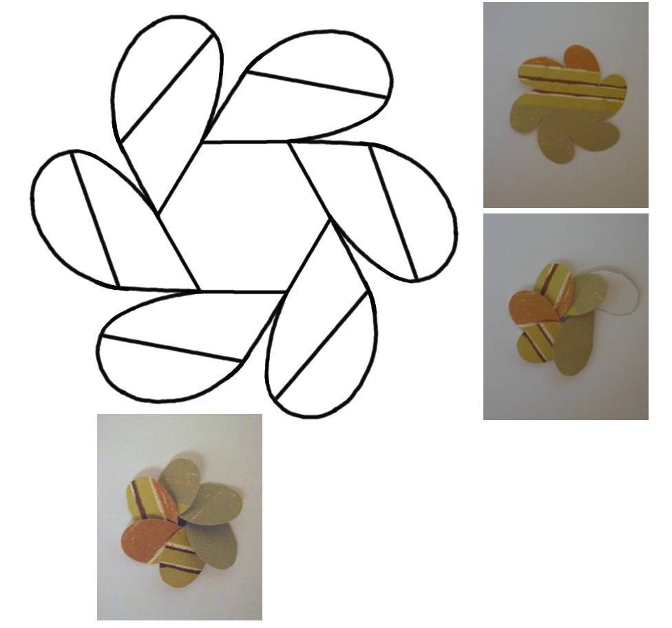 Plantilla flor bordes  Paper Flowers  Pinterest  Paper folding