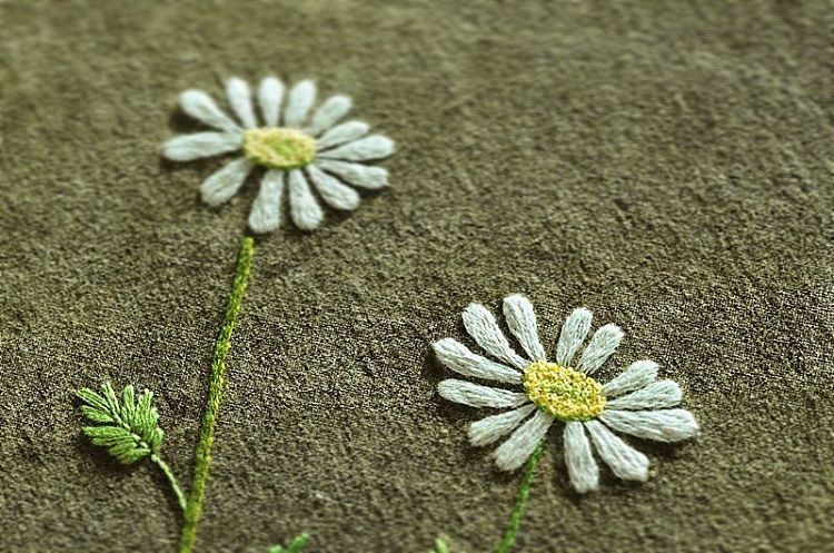 #야생화자수 #한라구절초 #구절초 #꿈소 #꿈을짓는바느질공작소 #embroidery #dendranthema #chrysanthemum