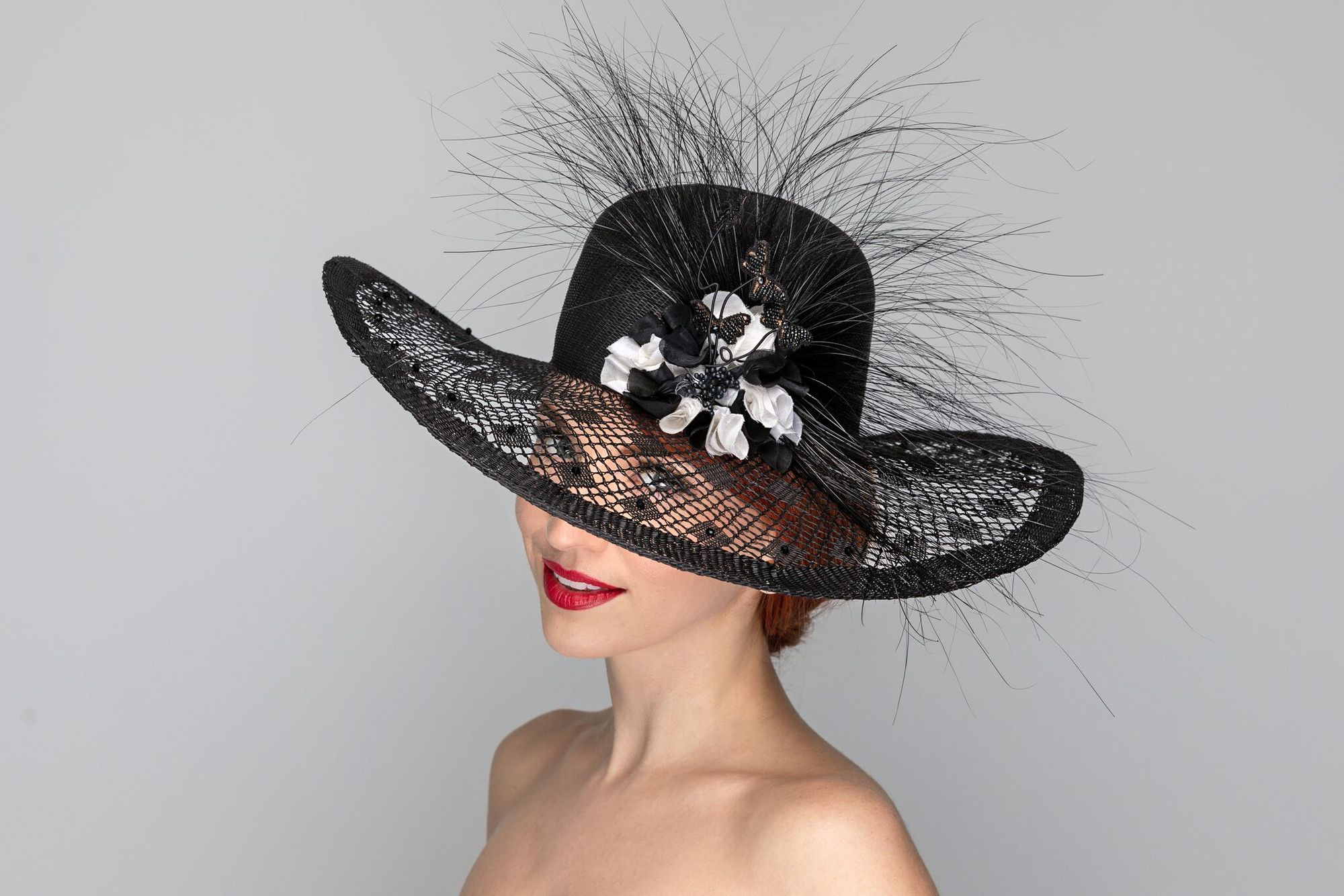 One Of A Kind Hats By Formemillinery Featuredmillinerofthe146kentuckyderby Kentuckyderby Com Kentuckyderbyfashioninsider Millinery Hats Hats Black Beauties
