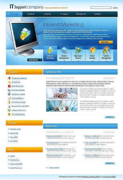 10+ Communications and Information Technology Wordpress Templates ...