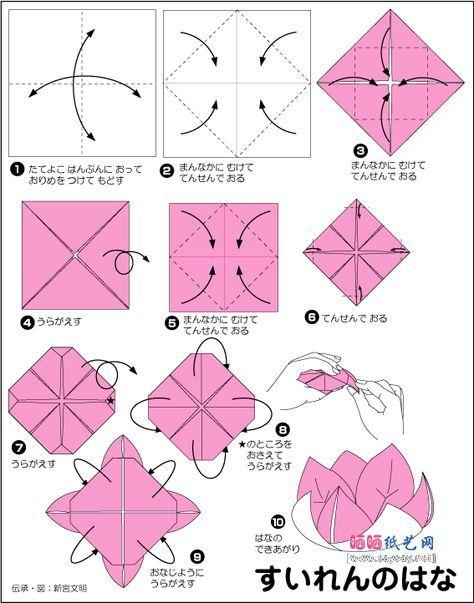0rigami Fiori.Origami Fiori Di Loto Istruzioni Cerca Con Google Origami