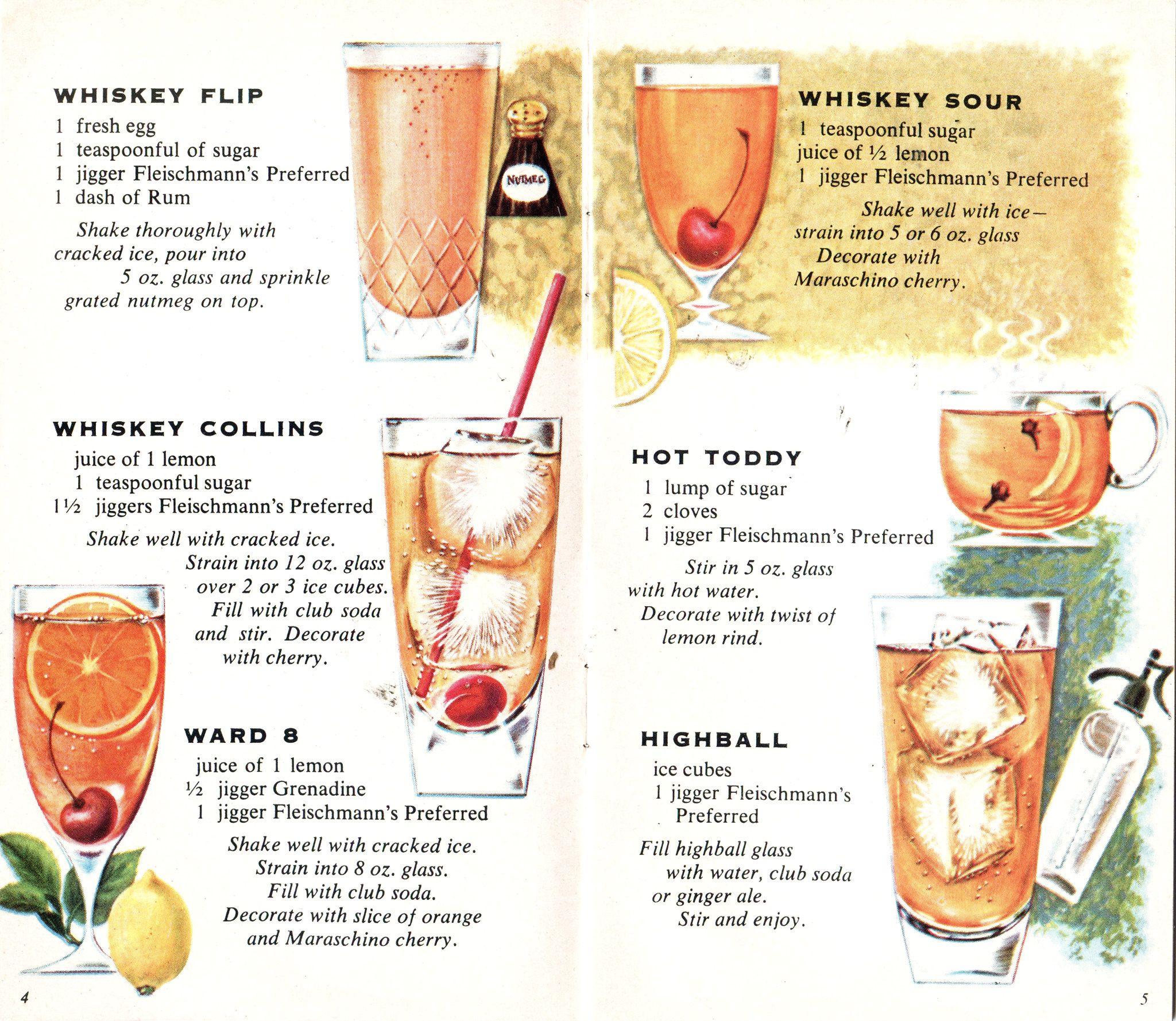 Fleischmann's Whiskey Vintage cocktails, Whiskey