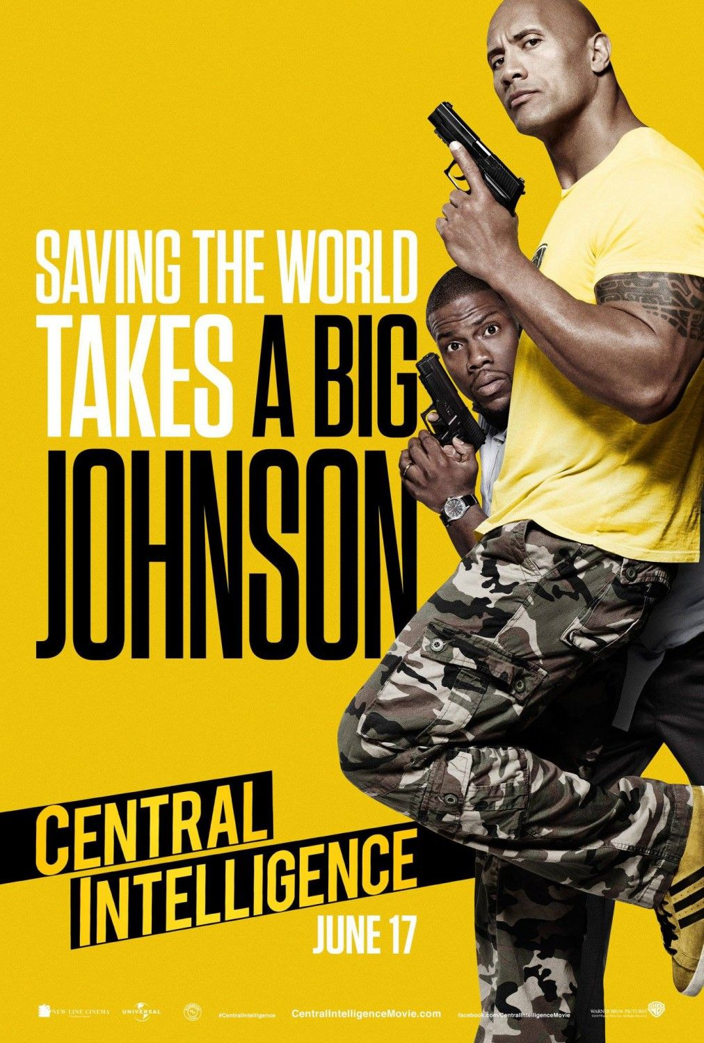Central Intelligence Extra Large Movie Poster Image Internet Movie Poster Awards Gallery Central Intelligence Movie Dwayne Johnson Movies Dwayne Johnson