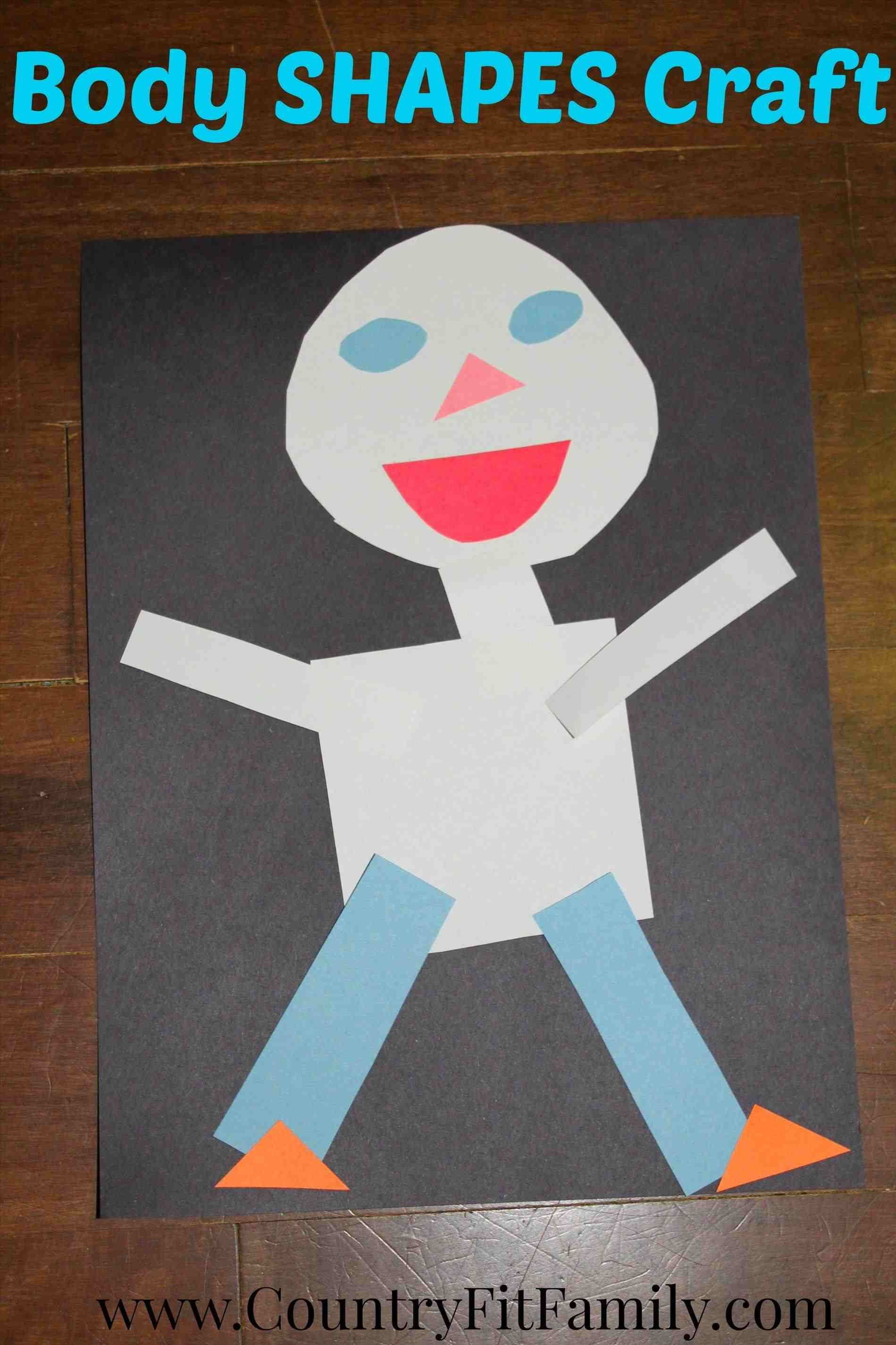 Body Body Parts Crafts Shapes Craft For Preschoolers