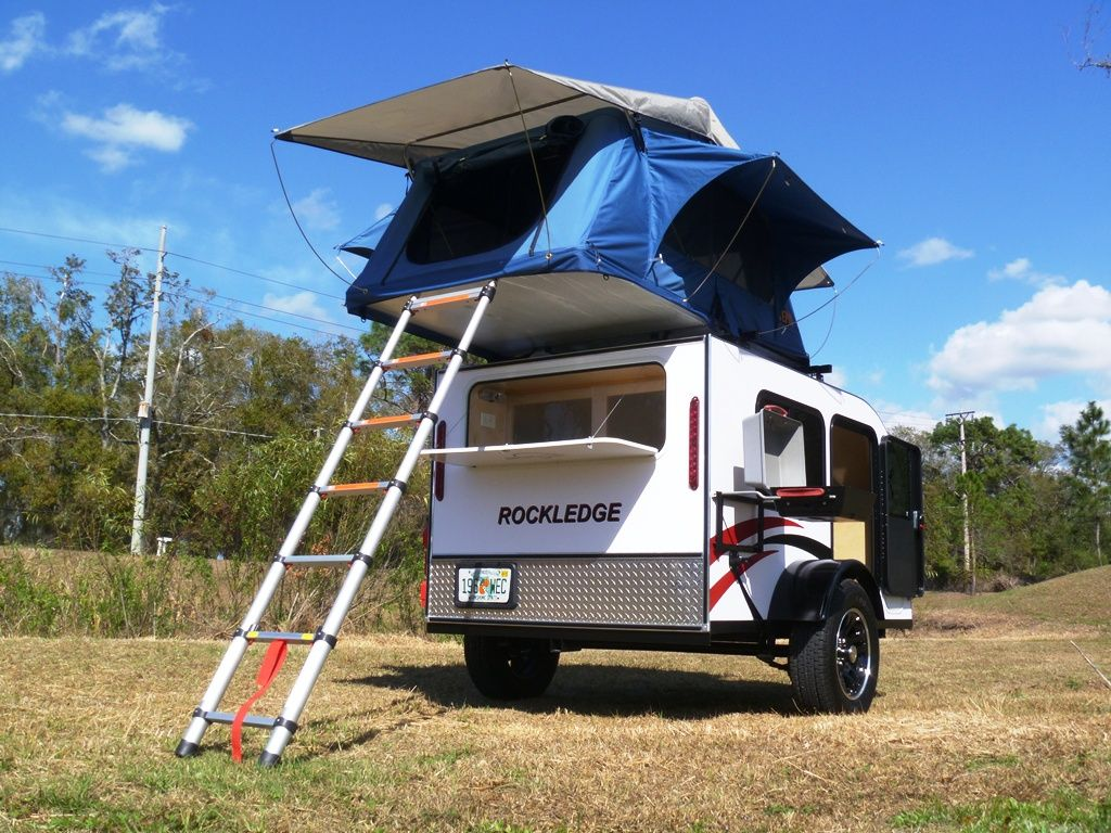 Rockledge Model Teardrop Camper With The Optional Roof Top