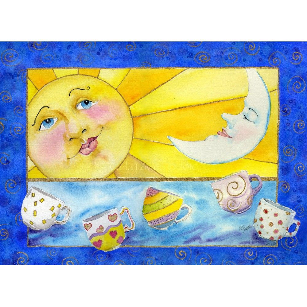 Sun Painting Sun and moon Art Painting Original by CarlaLovato ...