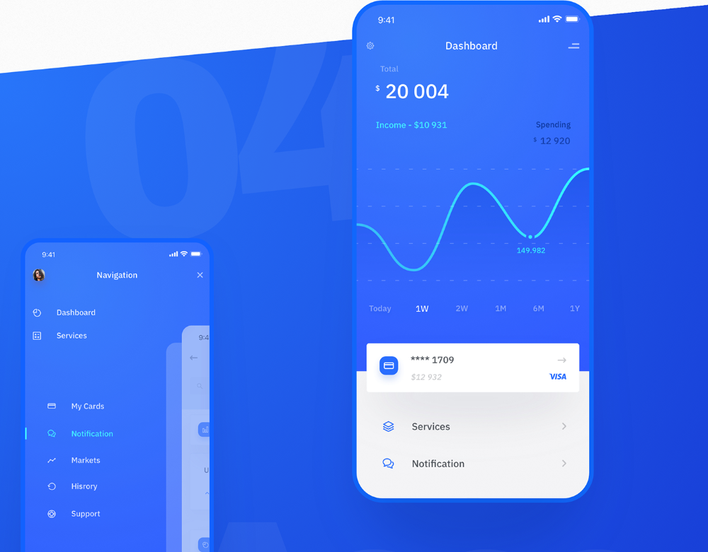 Chase Digital Banking App & Finance, Trade on Behance in