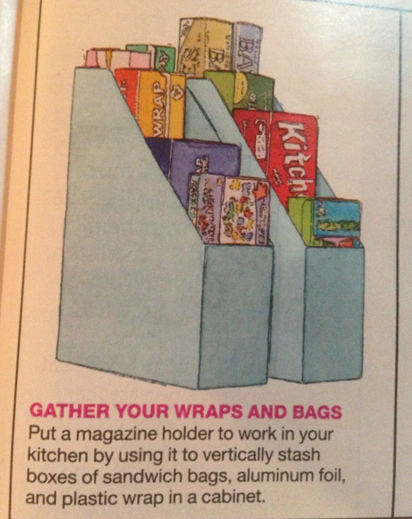 Repurposed Magazine Holders