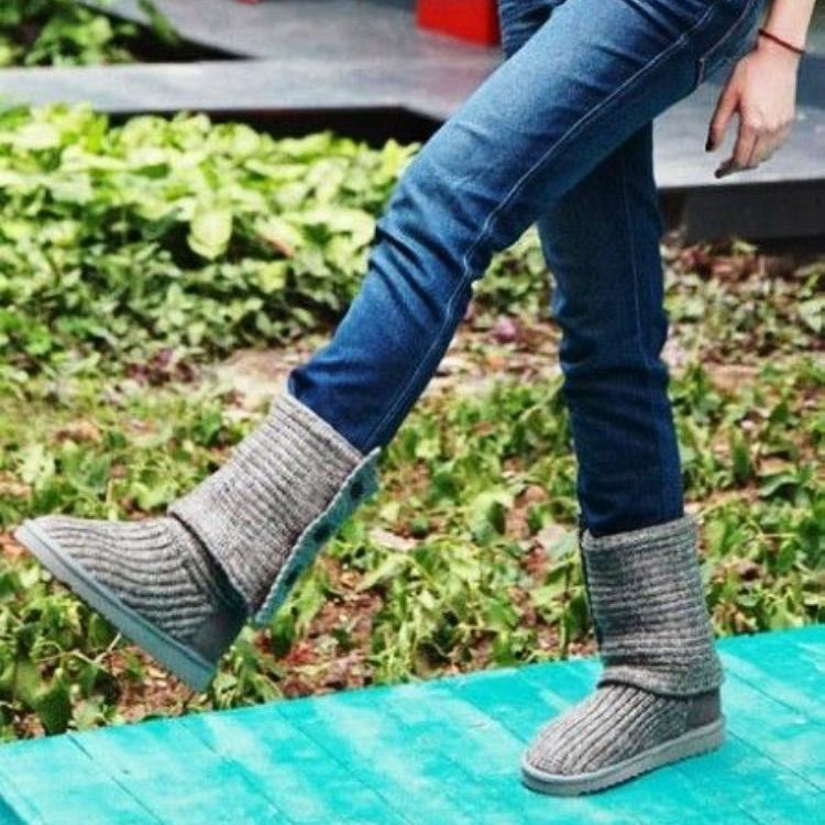 281be61fa32 Grey Knit Cardigan Ugg Fold Over Boots 7 | Products | Ugg sweater ...