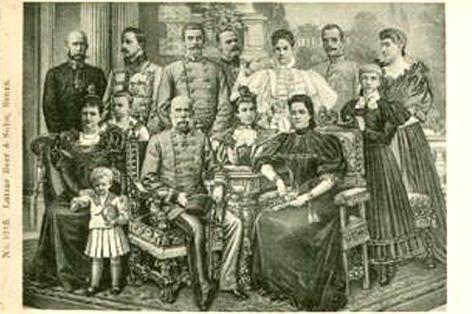 Elisabeth met familie