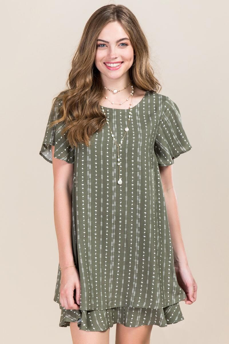 c4ecf062e9 Sorrel Arrow Print Shift Dress