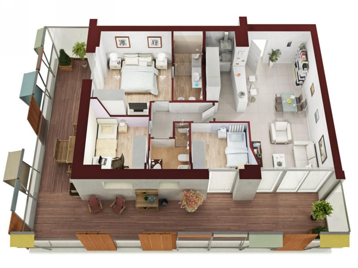 Apartment Plane Mit Zwei Schlafzimmern Auswahl Von 50 Designs Die Sie In Der Konstruktion Begeistern Werden Home Dekoration Ideas Floor Plan Design Small Apartment Plans Small Apartments