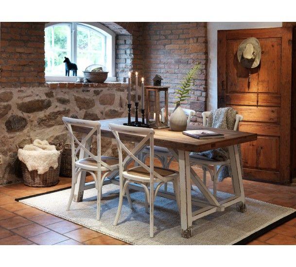 Arles Vintage Spisebord - Spisebord i genbrugstræ. Kan bruges som ...