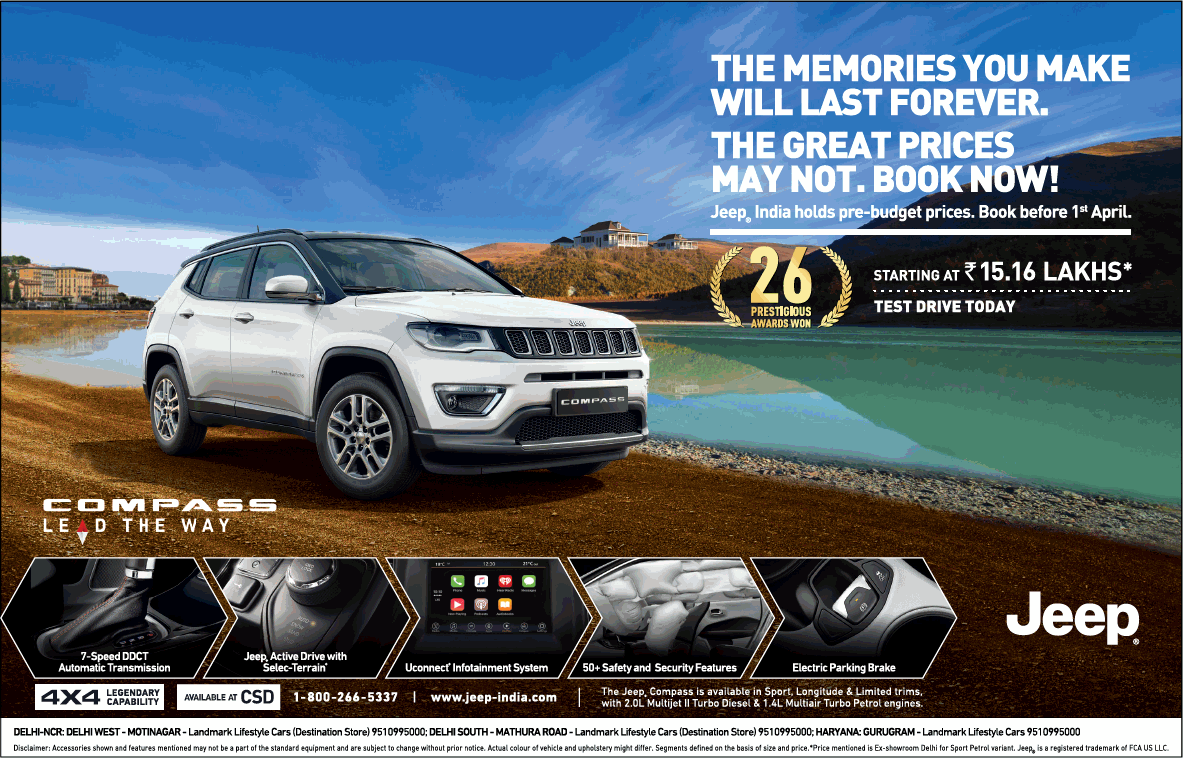Jeep Compass Lead The Way The Memories You Make Will Last Forever