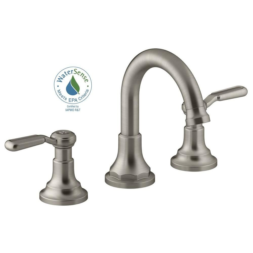 Merveilleux Widespread 2 Handle Bathroom Faucet In Vibrant Brushed Nickel