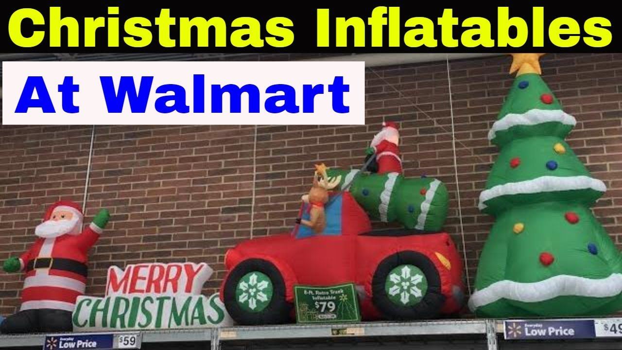 Christmas Inflatables At Walmart Christmas Inflatables Inflatable Christmas Tree Christmas Decor Diy