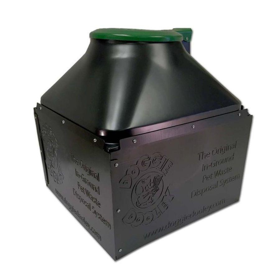 Dog pet waste disposal system septic tank black plastic