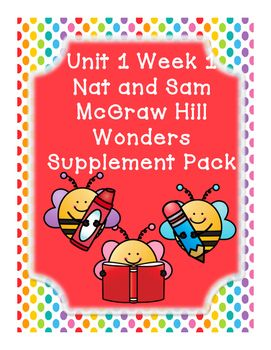 This includes supplementary materials for Reading Wonders Unit 1 Week 1 story Nat and Sam. Nat and Sam:*Weekly Newsletter*Spelling Scramble*Spelling Word Search*2 Phonics Worksheets*Color by High Frequency Word Ditto*High Frequency Word Search*Selection Test