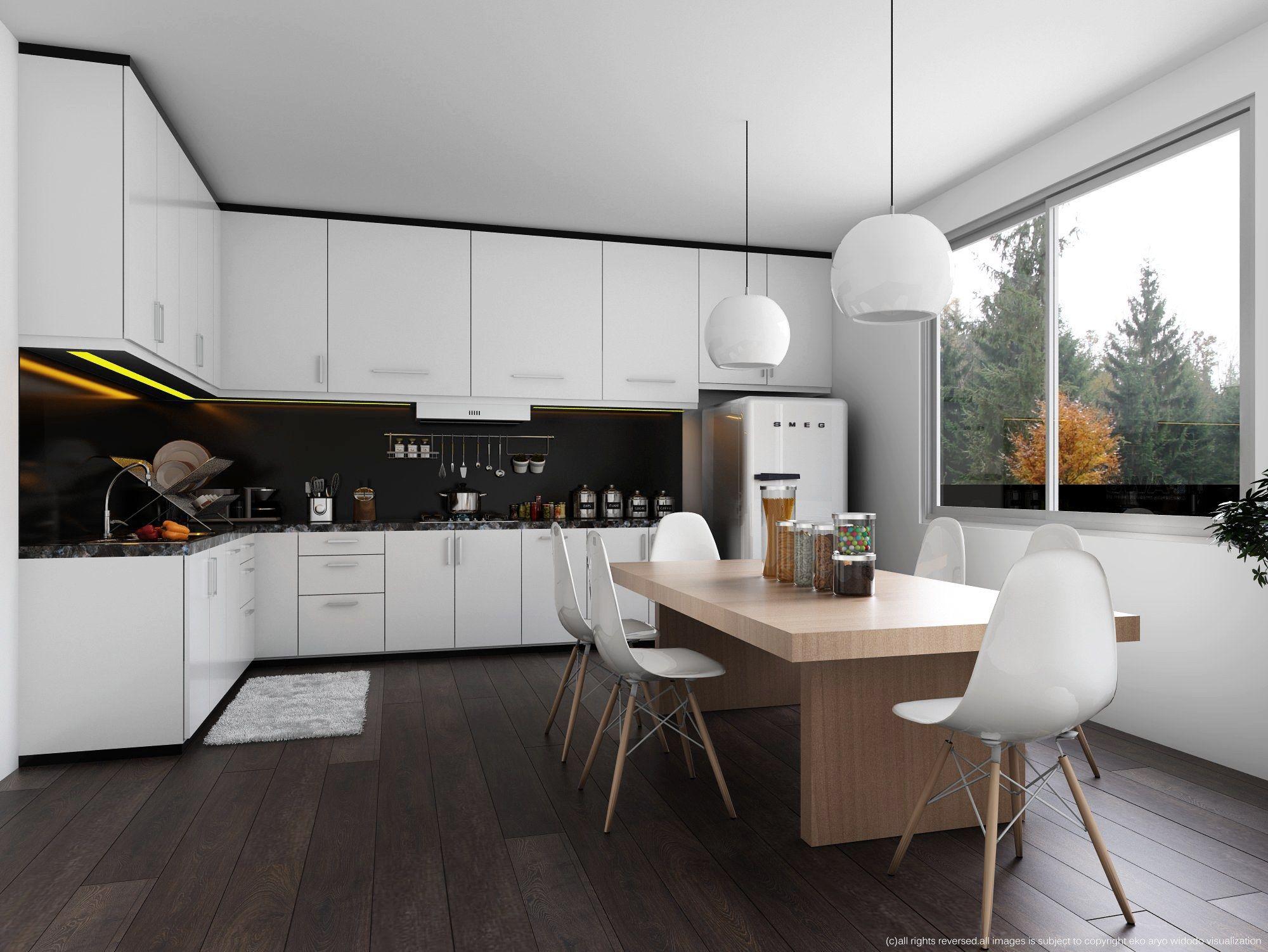 SKETCHUP FREE 3D MODEL WHITE KITCHEN & VISOPT by Eko