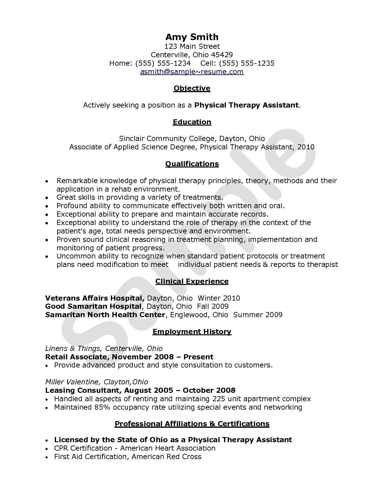 Cpr Certification On Resume Unique 12 13 Cpr Certification On Resume Example Physical Therapy Assistant Resume Examples Physical Therapist Assistant