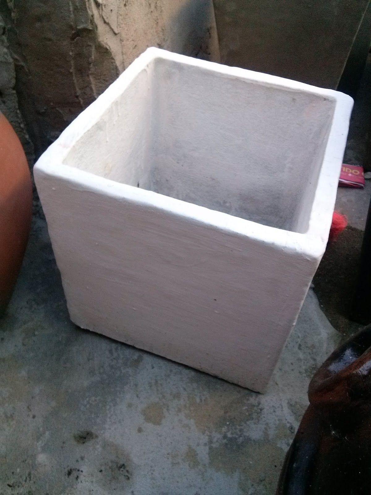 Aprend a hacer moldes para fabricar macetas macetas de - Como hacer cemento ...