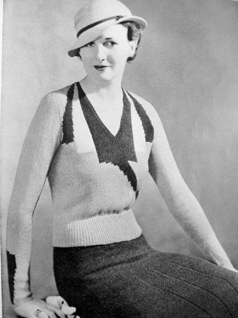 INSTANT PDF Pattern Vintage Knitting Pattern Art Deco Block Design ...