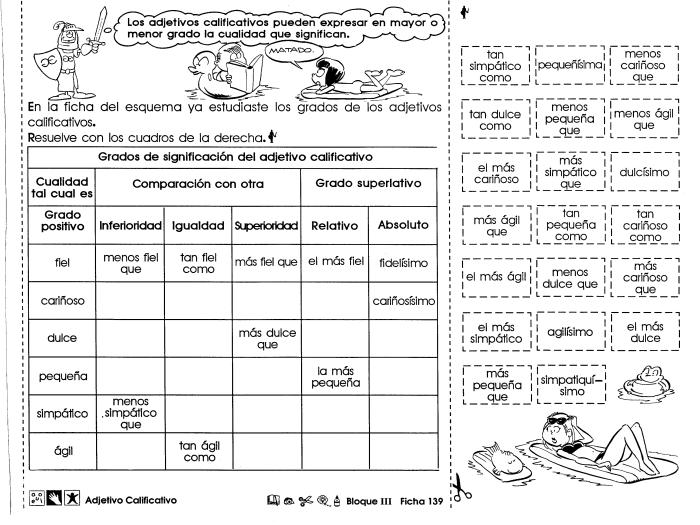 Adjetivo calificativo | Colegio | Colegio by BereNisse | Pinterest ...