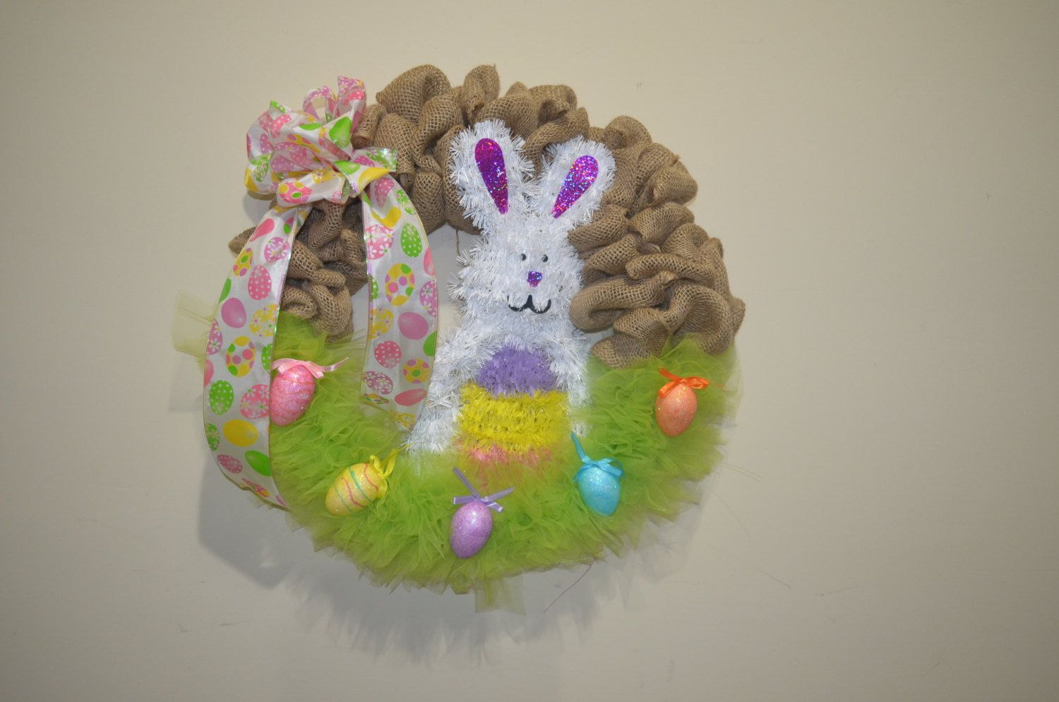 Easter basket wreath by TreasuresReinvented1 on Etsy