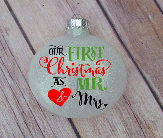 Personalized Ornament, Our First Christmas As Mr and Mrs
