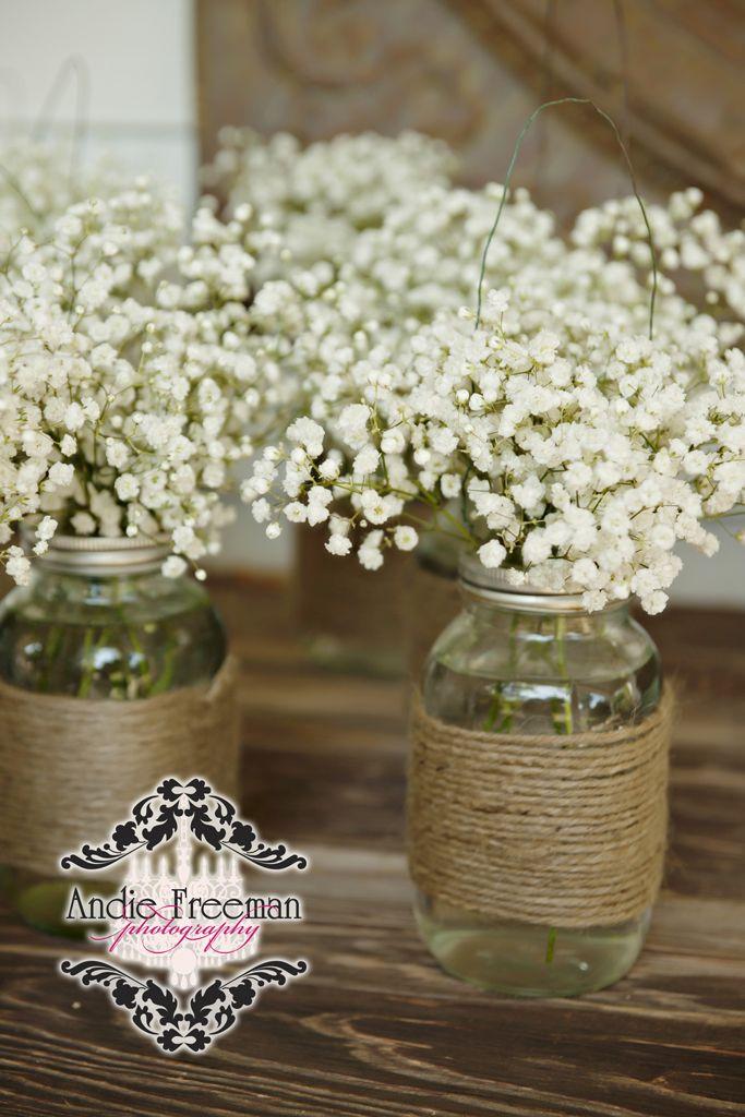 68 baby's breath wedding ideas for rustic weddings | jars, classic, Baby shower invitations