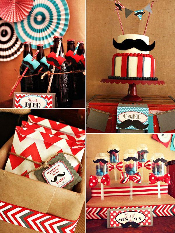 mustache baby shower ideas | baby shower ideas | Pinterest ...