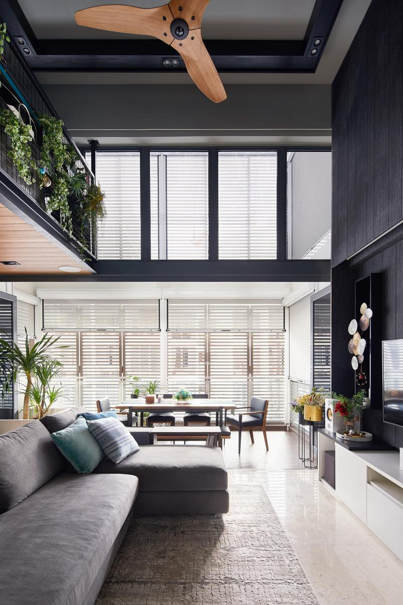 This Family's Mod-Industrial Home Has Its Own Mezzanine Loft
