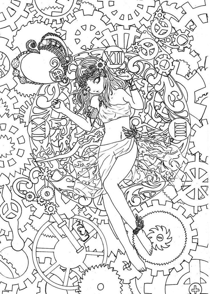 Preciosos dibujos para colorear para adultos  Dibujo  Pinterest