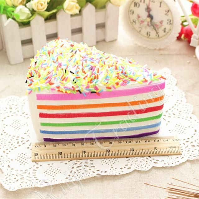 Cute! Slow-Rising Scented Squishy - Rainbow Cake